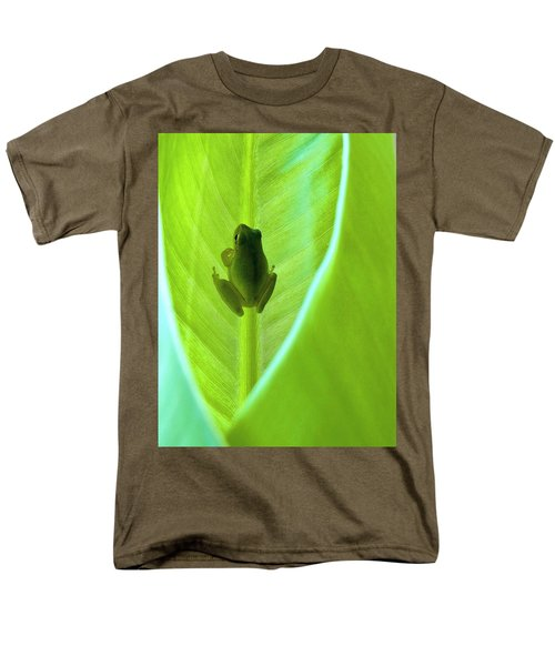 Men's T-Shirt  (Regular Fit) featuring the photograph Frog In Blankie by Faith Williams