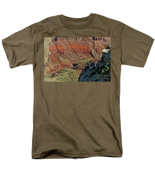 Men's T-Shirt  (Regular Fit) featuring the photograph From Yaki Point 5 Grand Canyon by Bob and Nadine Johnston