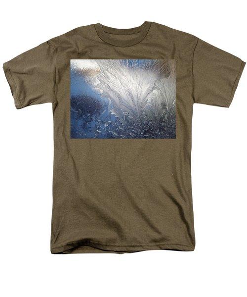 Men's T-Shirt  (Regular Fit) featuring the photograph Frost Ferns by Joy Nichols