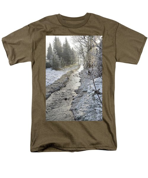 Men's T-Shirt  (Regular Fit) featuring the painting Frozen Air by Felicia Tica