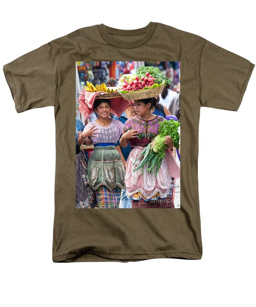 Fruit Sellers In Antigua Guatemala Men's T-Shirt  (Regular Fit) by David Smith