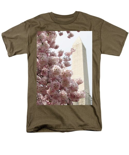 Men's T-Shirt  (Regular Fit) featuring the photograph Full Bloom In Dc by Jennifer Wheatley Wolf