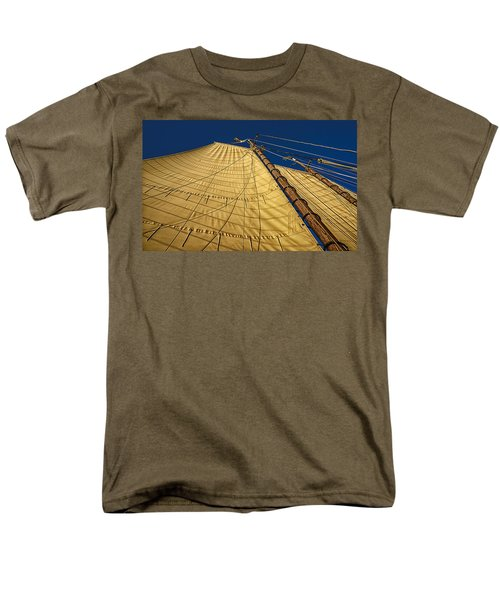 Men's T-Shirt  (Regular Fit) featuring the photograph Gaff Rigged Mainsail by Marty Saccone