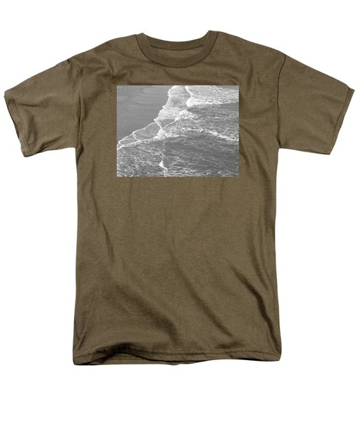 Galveston Tide In Grayscale Men's T-Shirt  (Regular Fit) by Connie Fox