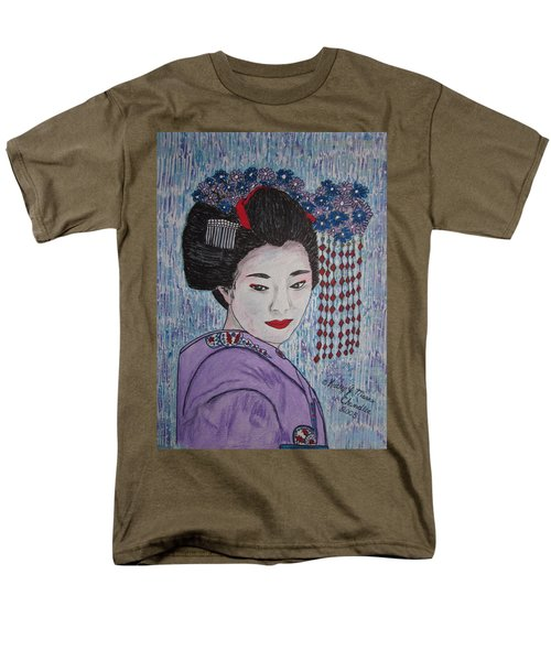 Men's T-Shirt  (Regular Fit) featuring the painting Geisha Girl by Kathy Marrs Chandler