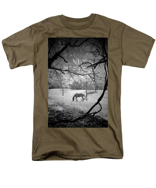 Men's T-Shirt  (Regular Fit) featuring the photograph Georgia Horses by Bradley R Youngberg