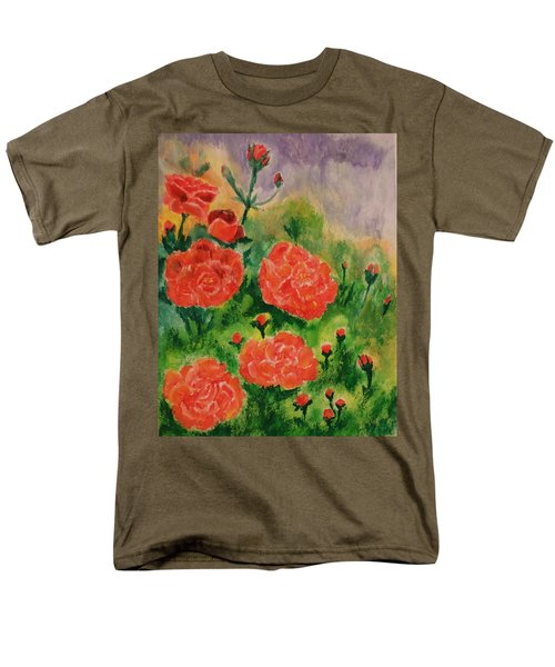 Men's T-Shirt  (Regular Fit) featuring the painting Geraniums by Christy Saunders Church