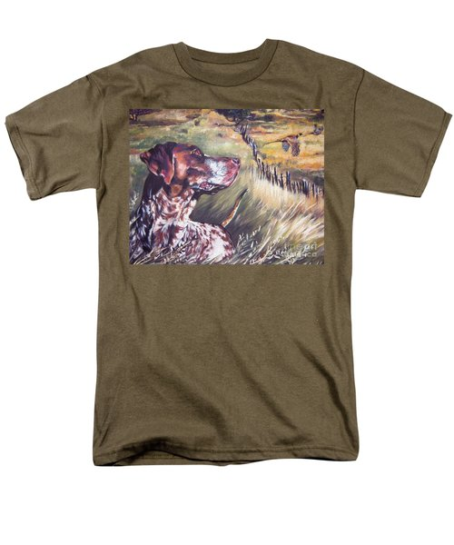 German Shorthaired Pointer And Pheasants Men's T-Shirt  (Regular Fit) by Lee Ann Shepard