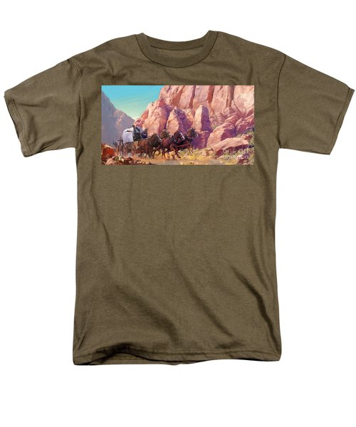 Men's T-Shirt  (Regular Fit) featuring the painting Gett'en Through by Rob Corsetti