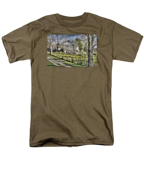 Men's T-Shirt  (Regular Fit) featuring the photograph Gettysburg At Rest - Sarah Patterson Farm Field Hospital Muted by Michael Mazaika