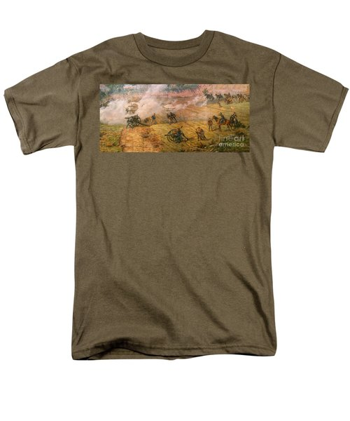 Gettysburg Cyclorama Detail One Men's T-Shirt  (Regular Fit) by Randy Steele