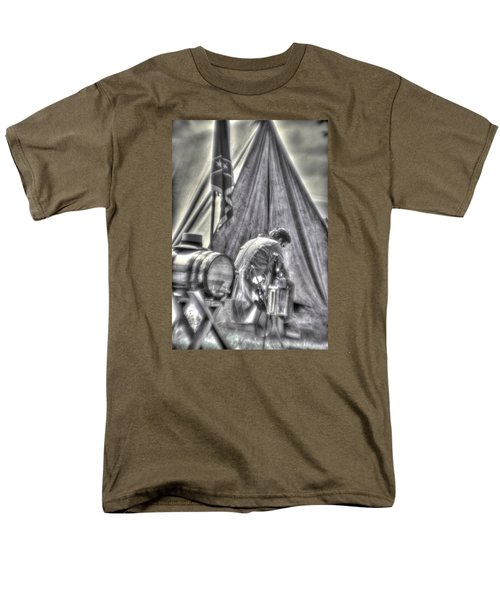 Men's T-Shirt  (Regular Fit) featuring the photograph Gettysburg In The Camp - Counting The Losses by Michael Mazaika