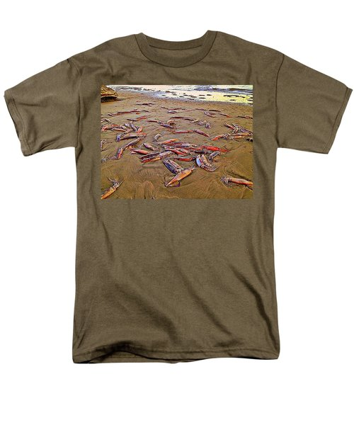 Men's T-Shirt  (Regular Fit) featuring the photograph Giant Squid Capitola Beach by Antonia Citrino