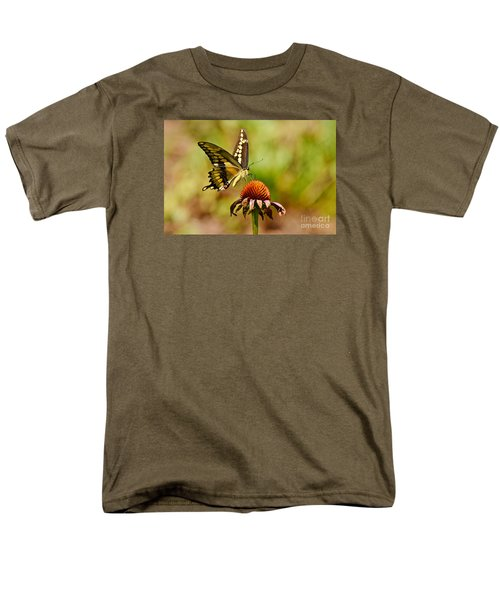 Giant Swallowtail Butterfly Men's T-Shirt  (Regular Fit) by Kathy Baccari