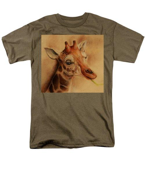 Giraffe Men's T-Shirt  (Regular Fit) by Jean Cormier