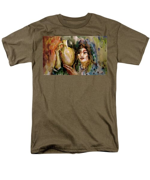 Men's T-Shirt  (Regular Fit) featuring the painting Girl With A Jug. by Faruk Koksal