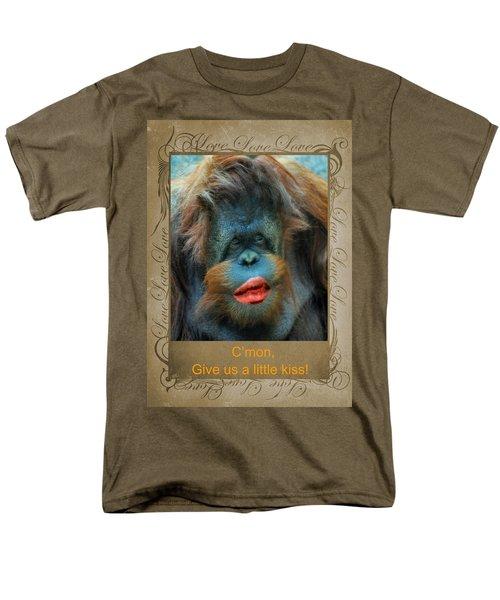 Give Us A Little Kiss Men's T-Shirt  (Regular Fit) by Paula Ayers