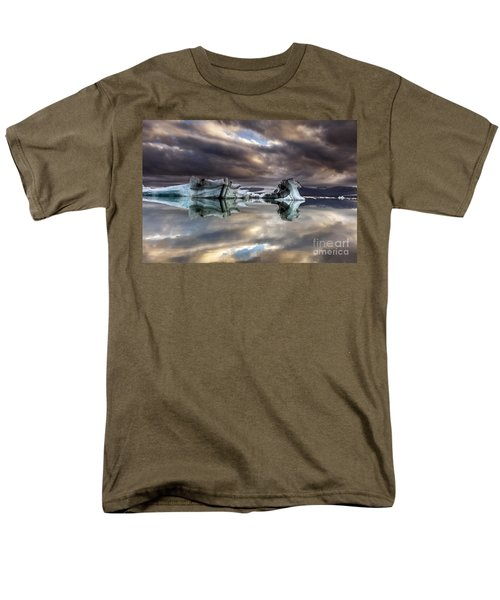 Men's T-Shirt  (Regular Fit) featuring the photograph Glacier In Water by Gunnar Orn Arnason