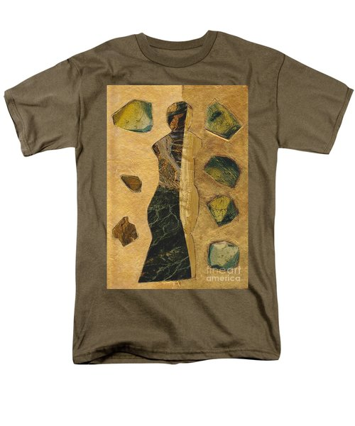 Gold Black Female Men's T-Shirt  (Regular Fit) by Patricia Cleasby
