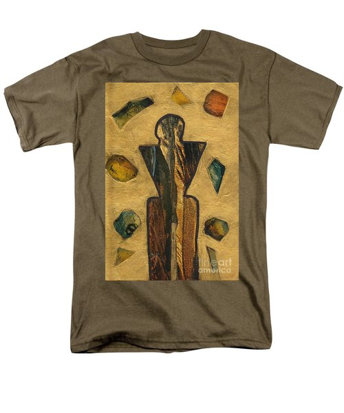 Gold Black Male Gems Men's T-Shirt  (Regular Fit) by Patricia Cleasby