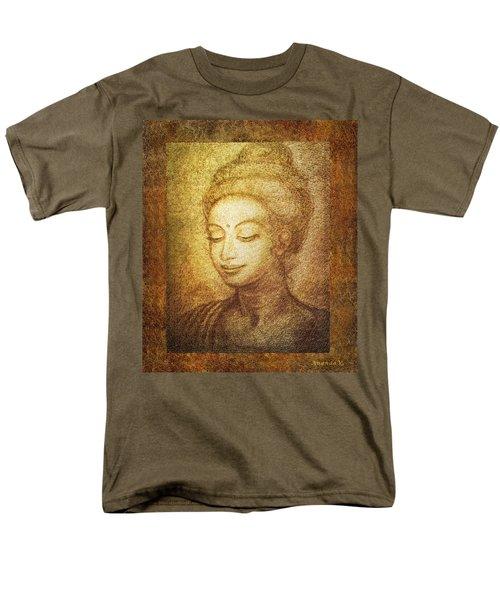 Golden Buddha Men's T-Shirt  (Regular Fit) by Ananda Vdovic