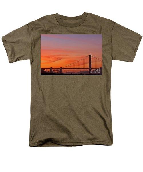 Golden Gate Sunset Men's T-Shirt  (Regular Fit) by Kate Brown