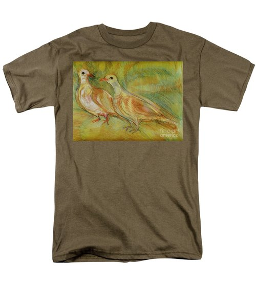 Golden Pigeons Men's T-Shirt  (Regular Fit) by Anna Yurasovsky