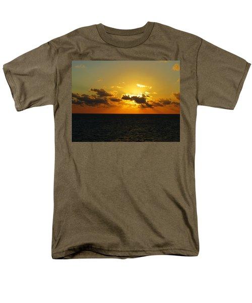 Men's T-Shirt  (Regular Fit) featuring the photograph Golden Rays Sunset by Jennifer Wheatley Wolf