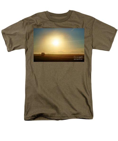 Men's T-Shirt  (Regular Fit) featuring the photograph Golden Sunset by Judy Palkimas