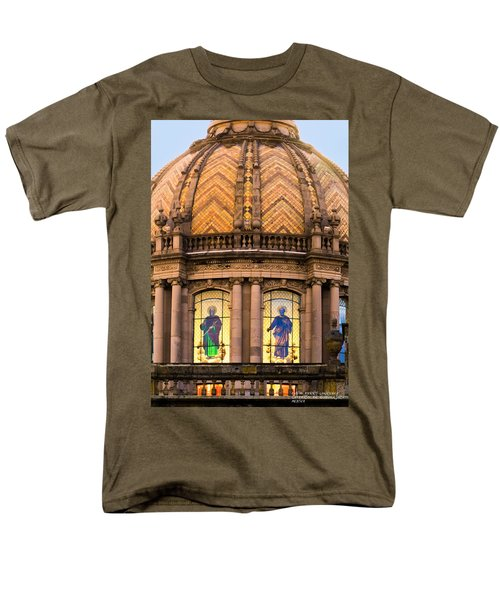 Men's T-Shirt  (Regular Fit) featuring the photograph Grand Cathedral Of Guadalajara by David Perry Lawrence