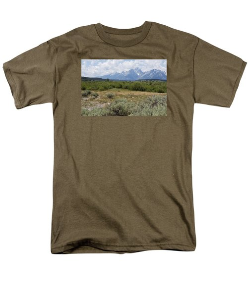 Men's T-Shirt  (Regular Fit) featuring the photograph Grand Tetons From Willow Flats by Belinda Greb