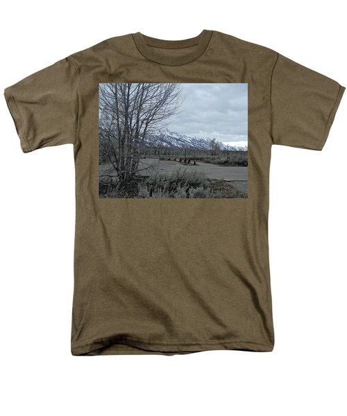 Grand Tetons Landscape Men's T-Shirt  (Regular Fit) by Michele Myers