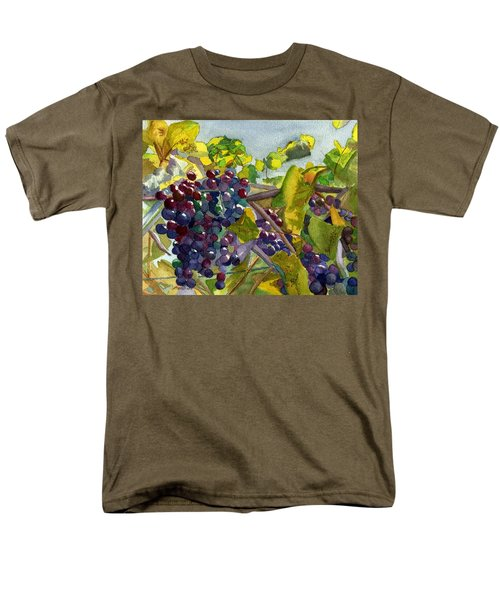 Men's T-Shirt  (Regular Fit) featuring the painting Grapevines by Lynne Reichhart