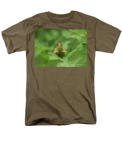 Men's T-Shirt  (Regular Fit) featuring the photograph Grasshopper Portrait by Olga Hamilton