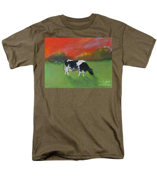 Grazing Cow Men's T-Shirt  (Regular Fit) by Robin Maria Pedrero