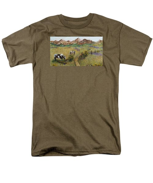 Grazing Cows Men's T-Shirt  (Regular Fit) by Katherine Young-Beck