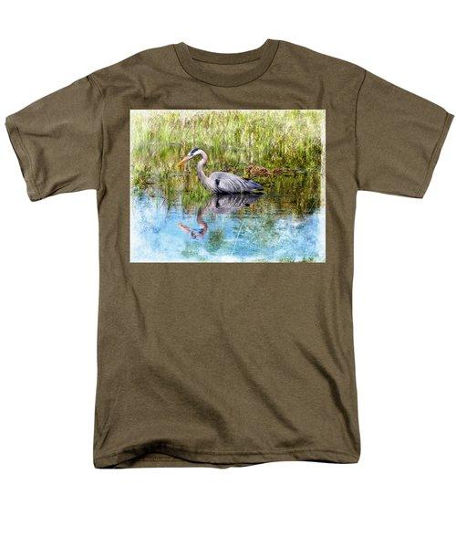 Great Blue Hunter Men's T-Shirt  (Regular Fit) by Barbara Chichester