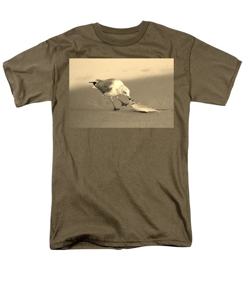 Men's T-Shirt  (Regular Fit) featuring the photograph Great Catch With Fish by Cynthia Guinn