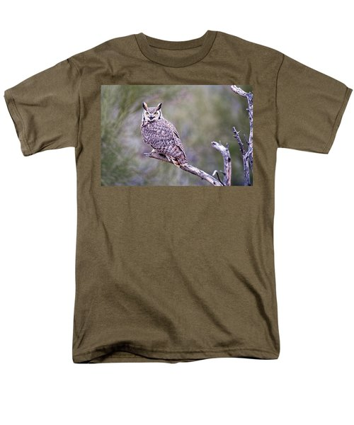 Men's T-Shirt  (Regular Fit) featuring the photograph Great Horned Owl by Dan McManus