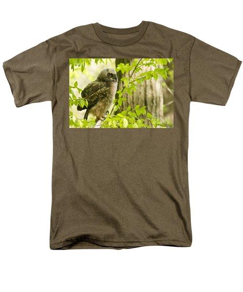 Great Horned Owlet Men's T-Shirt  (Regular Fit) by Michael Cummings