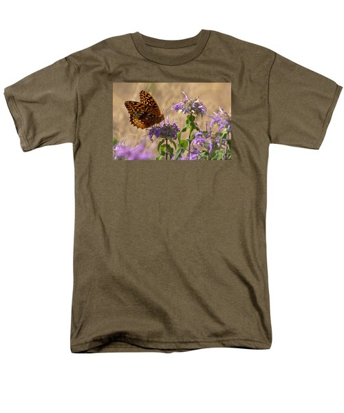 Great Spangled On Bee Balm Men's T-Shirt  (Regular Fit) by Shelly Gunderson