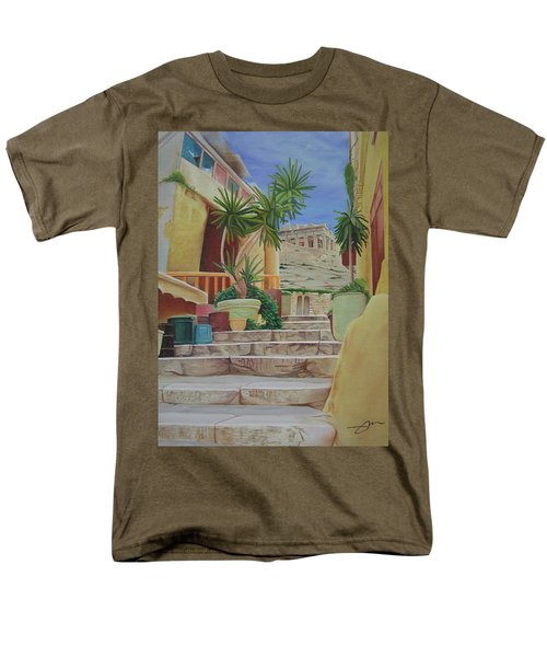 Men's T-Shirt  (Regular Fit) featuring the painting Greece by Joshua Morton