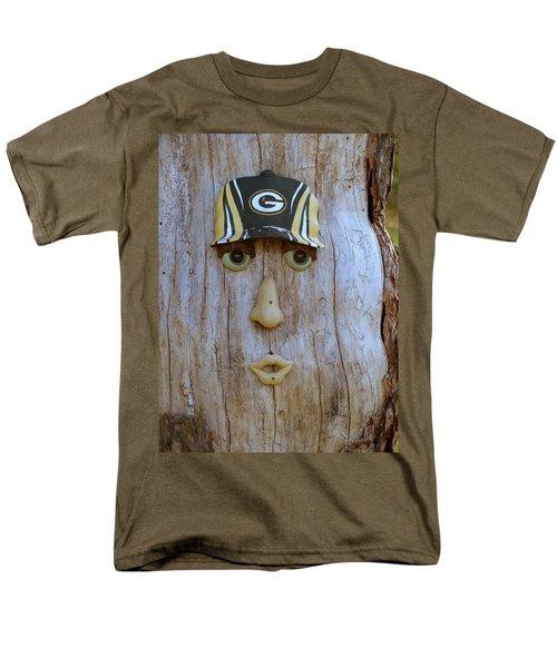 Green Bay Packer Humor Men's T-Shirt  (Regular Fit) by Kay Novy