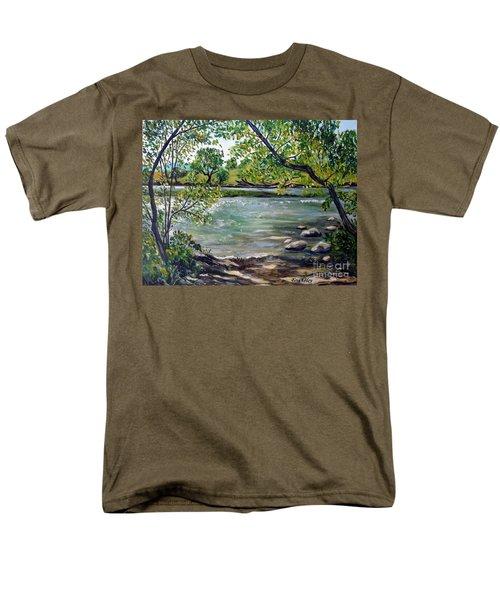 Green Hill Park On The Roanoke River Men's T-Shirt  (Regular Fit) by Julie Brugh Riffey