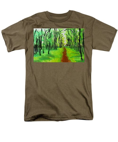 Men's T-Shirt  (Regular Fit) featuring the painting Green Leaves by Marisela Mungia