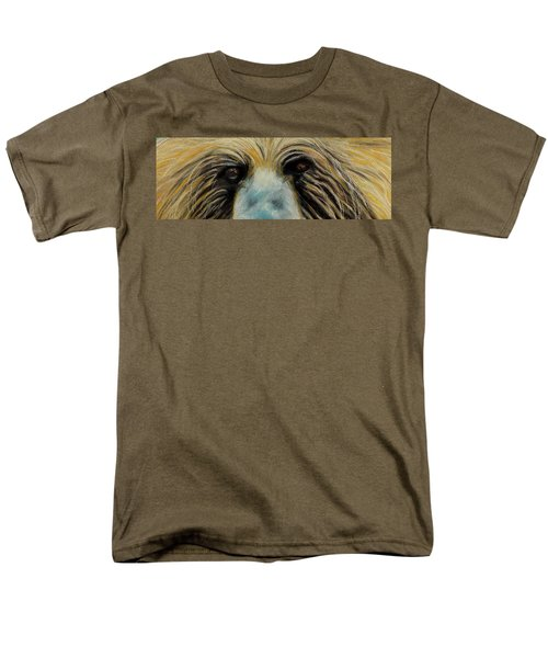 Grizzly Eyes Men's T-Shirt  (Regular Fit) by Jeanne Fischer