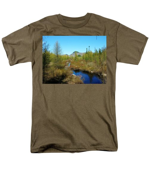 Men's T-Shirt  (Regular Fit) featuring the photograph Groton State Forest Moose Country by Sherman Perry