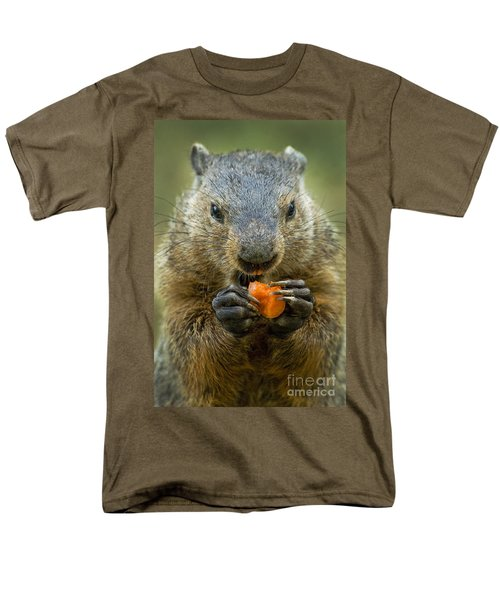 Groundhogs Favorite Snack Men's T-Shirt  (Regular Fit) by Paul W Faust -  Impressions of Light
