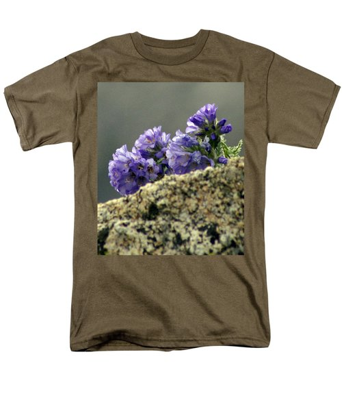 Men's T-Shirt  (Regular Fit) featuring the photograph Growing In Granite by Jeremy Rhoades