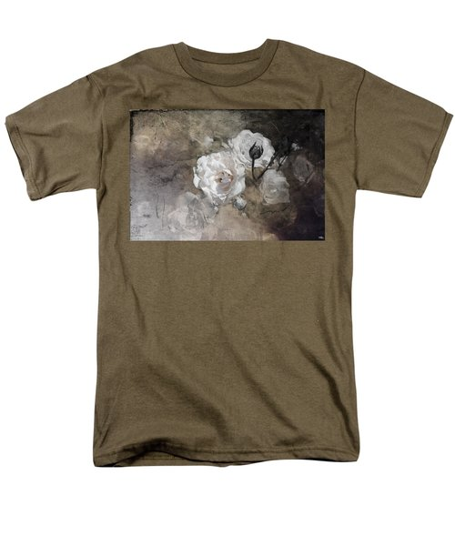 Grunge White Rose Men's T-Shirt  (Regular Fit) by Evie Carrier